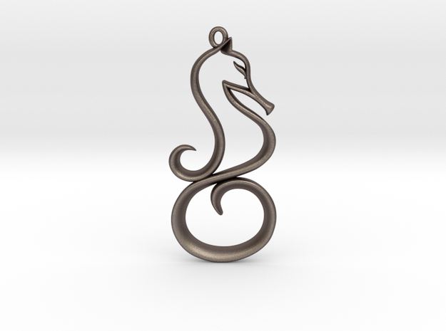 The Seahorse Pendant 3d printed