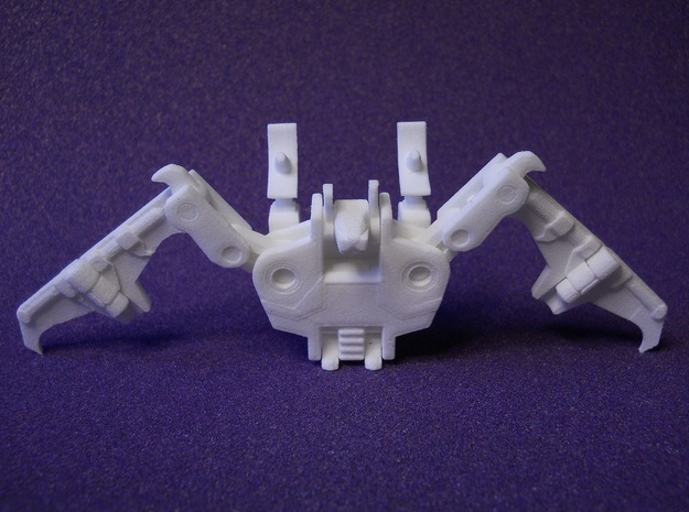 Bat Tapebot Ver.3 in White Strong & Flexible Polished