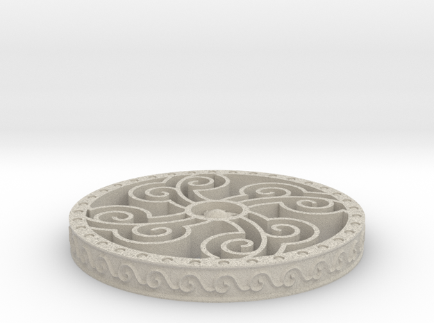 Four Elements Coaster in Natural Sandstone