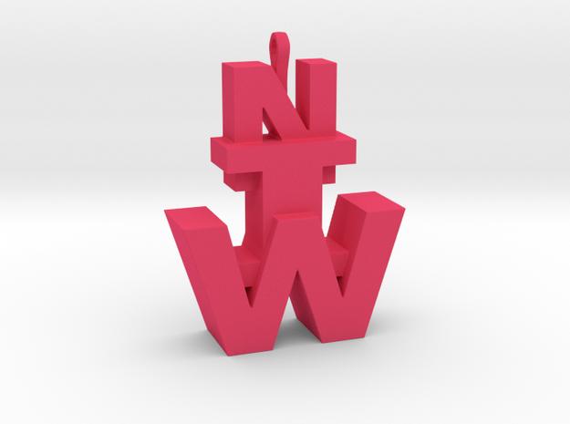 WIN! in Pink Processed Versatile Plastic