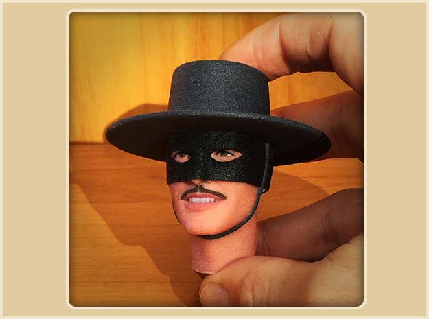1:6 Scale Zorro Head