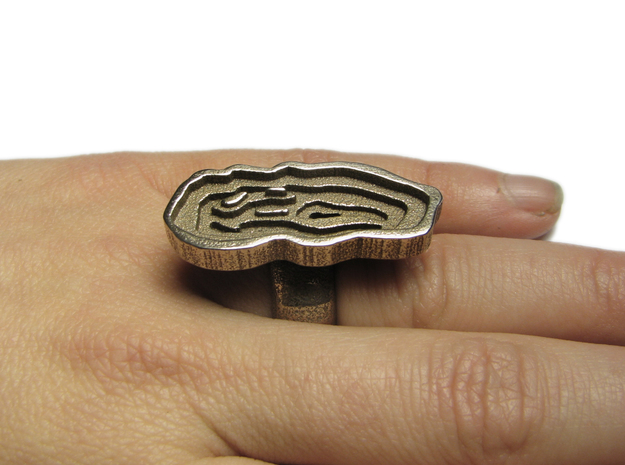 Topographic Ring 3d printed