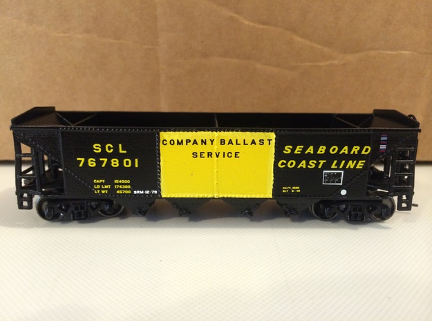 HO P-9 Ballast/Phosphate Hopper in Smooth Fine Detail Plastic