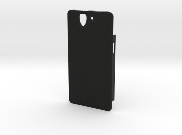 Sony Xperia Z case with small bumps in Black Natural Versatile Plastic