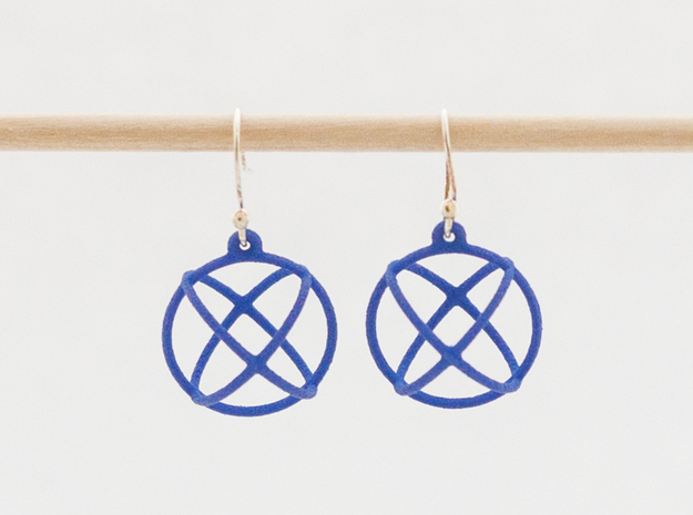 Orbit Earrings in Blue Processed Versatile Plastic