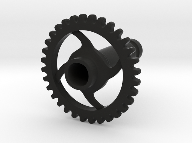 4 Gauge Gear in Black Natural Versatile Plastic