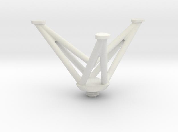 Mini Tripod in White Strong & Flexible