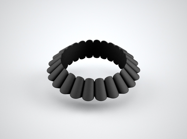 Chantilly-circle in Black Natural Versatile Plastic