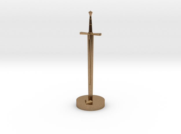 Role Playing Counter: Longsword 3d printed Longsword in Raw Brass