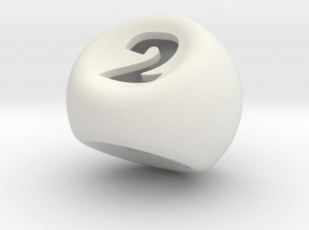 D3 in White Natural Versatile Plastic