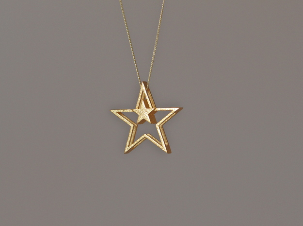 MidStar Pendant in Polished Gold Steel