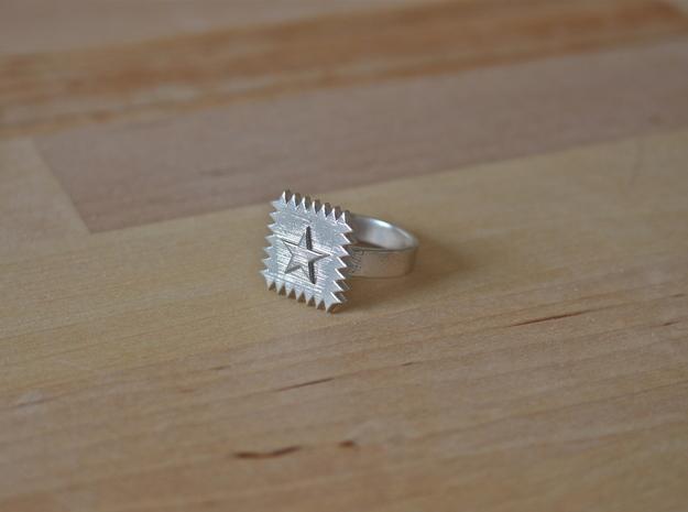 SpikeStar2 Ring in Raw Silver