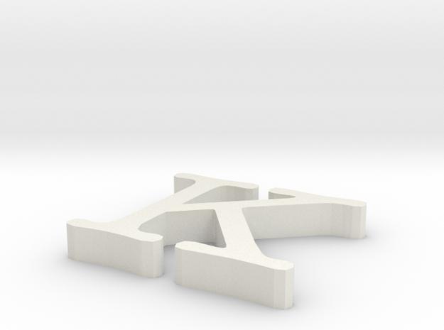 K Letter in White Strong & Flexible