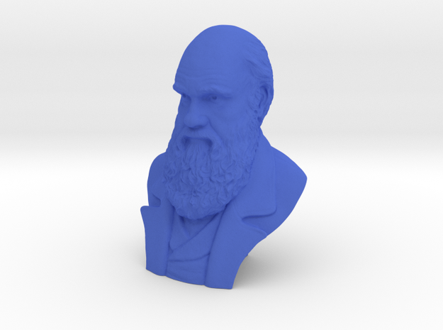 """Charles Darwin 3"""" Bust in Blue Strong & Flexible Polished"""