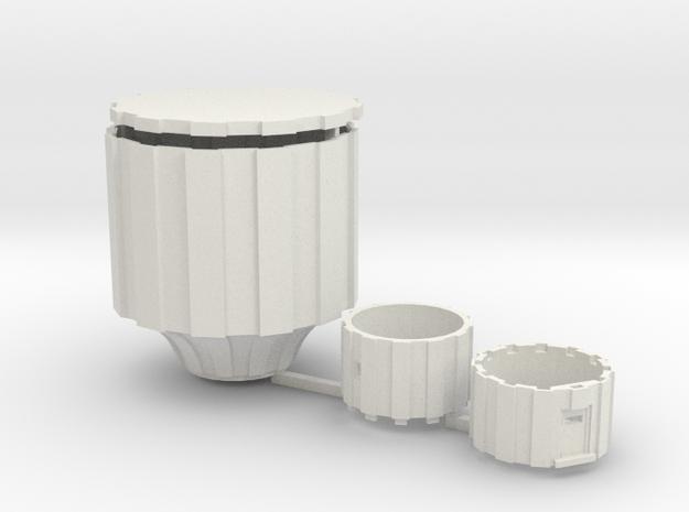 Watertoren Schaal 220 Definitief in White Natural Versatile Plastic