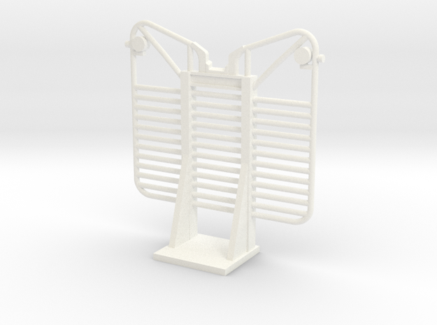 1/32 scale 12 Bar logging Headache Rack in White Processed Versatile Plastic
