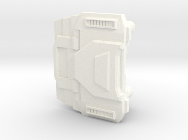 Extremely Noisy Robot Chest in White Strong & Flexible Polished