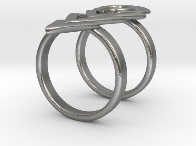 """The """"Rune"""" midi ring (Metal) in Raw Silver"""