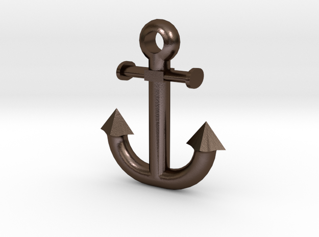 Anchor in Polished Bronze Steel