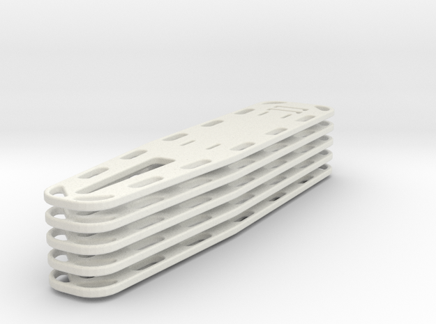 1/24 scale Nar Spineboard set of 5 in White Strong & Flexible