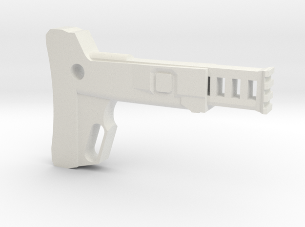 Combat Action Shoulder Stock (Long) in White Natural Versatile Plastic