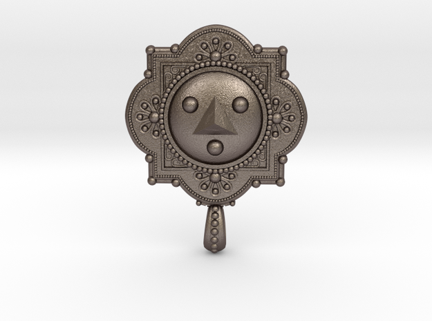 Shadow Medallion Pendant 3d printed