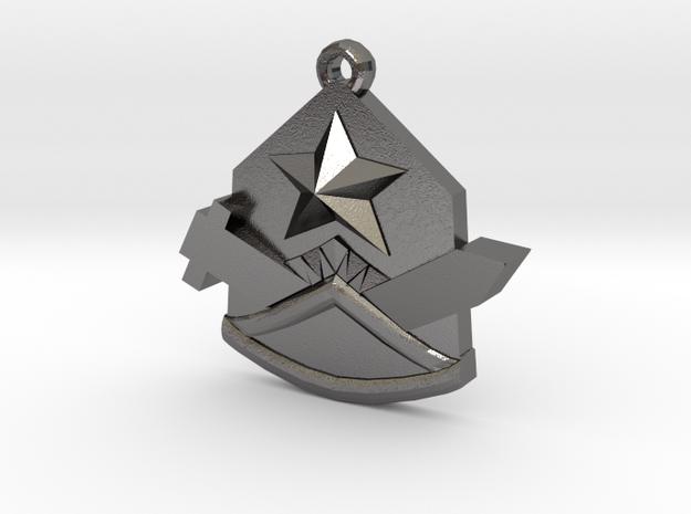 Samezuka Pendant in Polished Nickel Steel