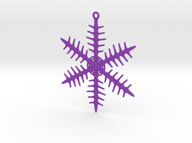 Ornament, Snowflake 000 in Purple Strong & Flexible Polished