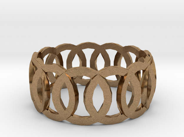 Ring14(18mm) in Natural Brass