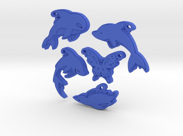 The Original Five in Blue Processed Versatile Plastic