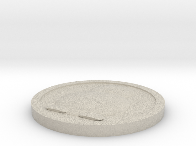 Linux Penguin Token in Natural Sandstone
