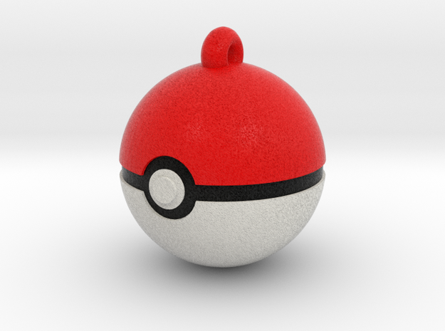 Pokeball with loop :D in Full Color Sandstone