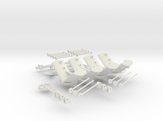 CARF P-47 scale detailed parts  in White Natural Versatile Plastic