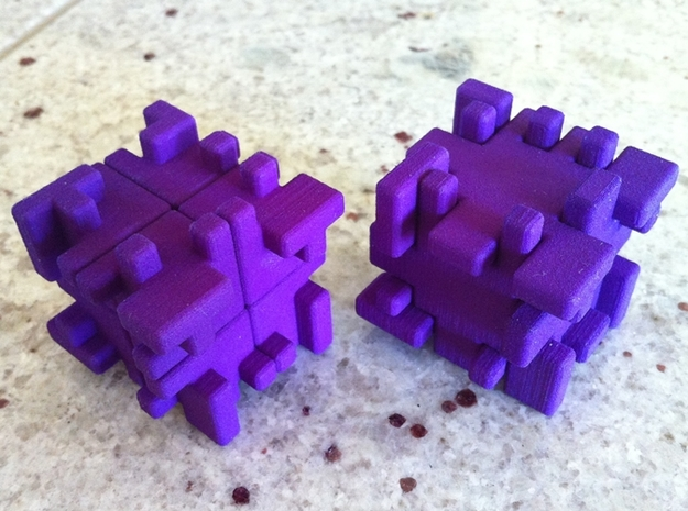 Twisty Burr 3d printed 2x2x2 and outer shell
