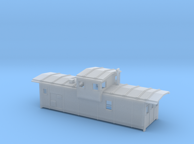 DMIR Caboose Early (no floor) - Nscale in Smooth Fine Detail Plastic