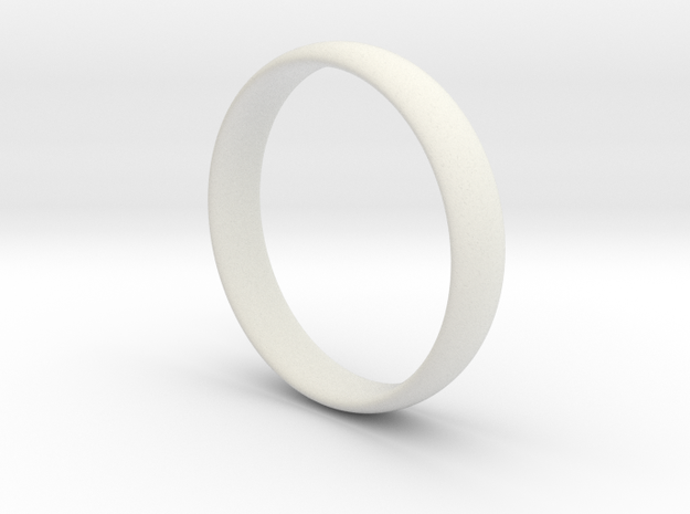Ring - Basic Band - Comfort Fit - Size 8.5 in White Natural Versatile Plastic