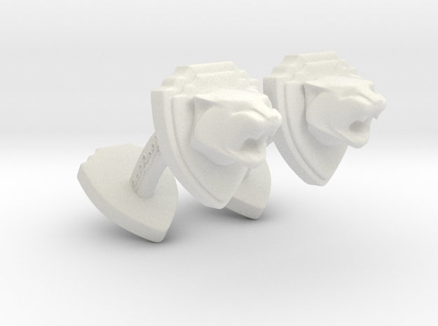 TwinTiger2 -Cuffs- in White Natural Versatile Plastic