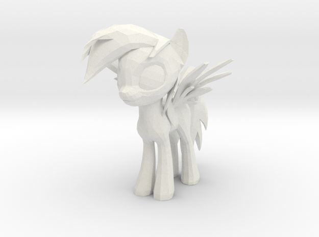 Rainbow Dash in White Natural Versatile Plastic