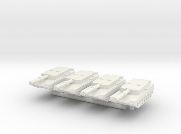 1/285 Arjun Main Battle Tank (x4) in White Natural Versatile Plastic