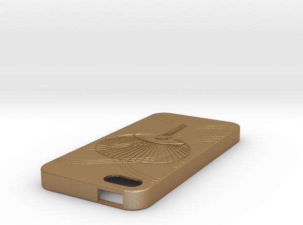 iPhone5case in Matte Gold Steel