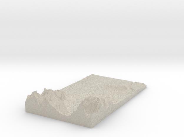 Model of Höllers-Berg in Natural Sandstone