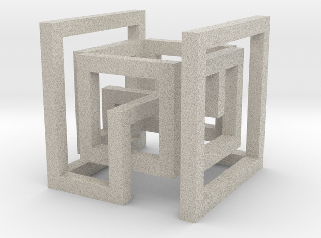 cube_06 in Natural Sandstone