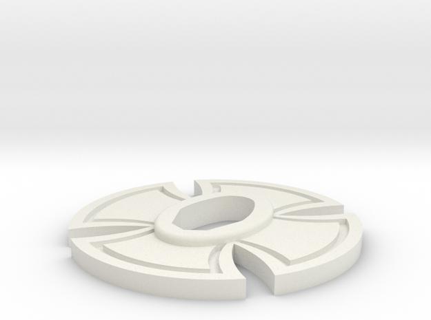 Cold Steel Bokken Tsuba - Iron Cross in White Natural Versatile Plastic