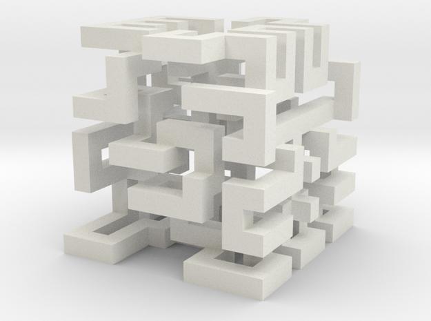 cube_22 in White Natural Versatile Plastic