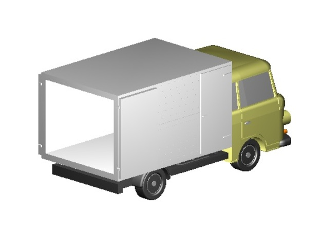 Barkas Koffer, offen (Z, 1:220) in Smooth Fine Detail Plastic