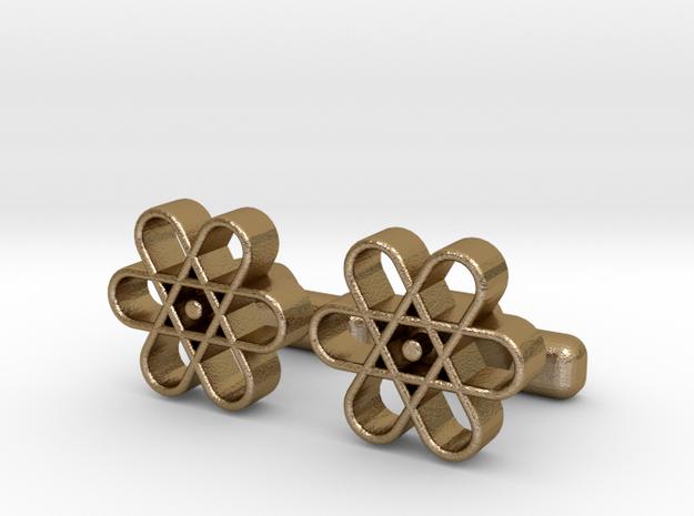 Flower B Cl in Polished Gold Steel