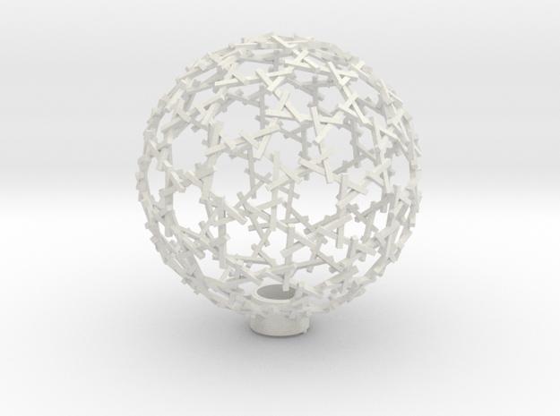 hexadome lampshade in White Natural Versatile Plastic