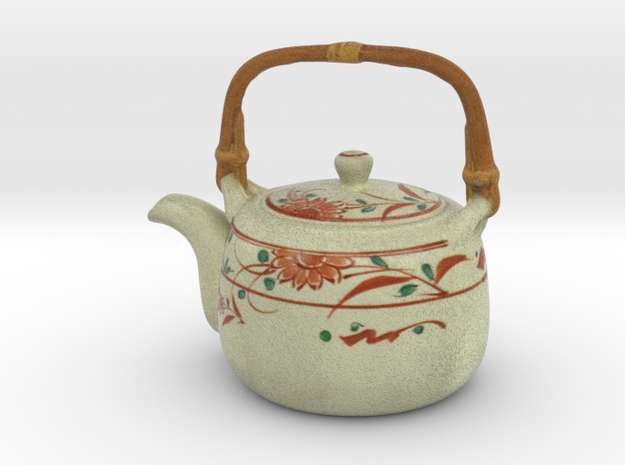 The Asian Teapot-2 in Full Color Sandstone