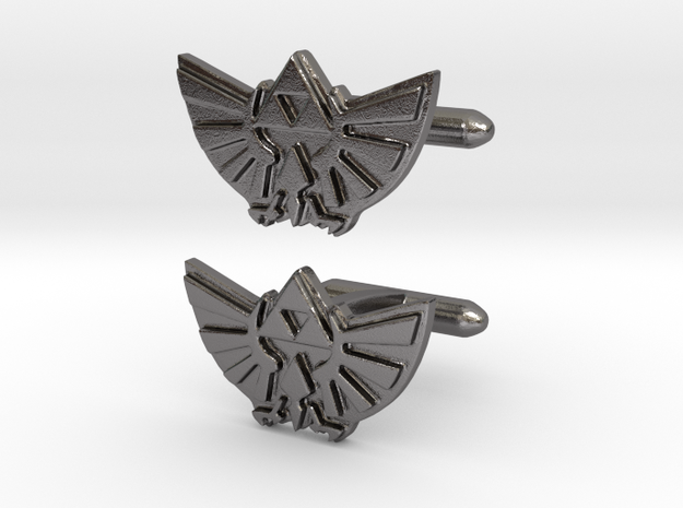 Legend of Zelda: Triforce Cufflinks 3d printed