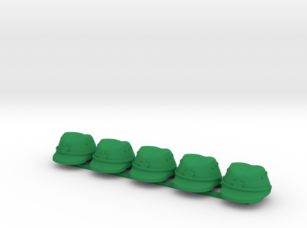 5 x Japanese Cap  in Green Strong & Flexible Polished